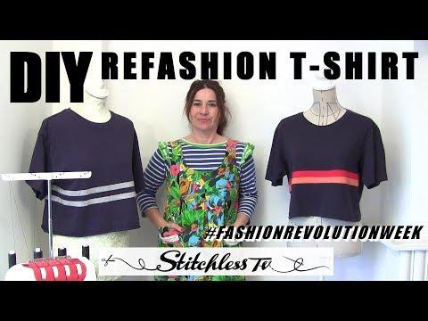 DIY Refashion T Shirt #fashionrevolutionweek