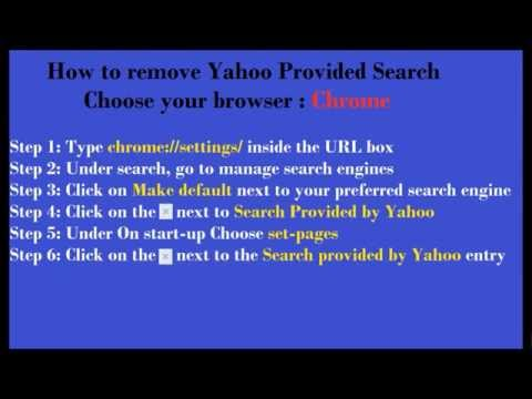 How to remove Yahoo Provided Search engine in Google Chrome