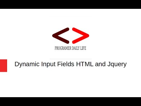 Dynamic input field html and jquery