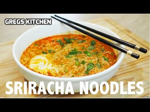 SRIRACHA SPICY RAMEN NOODLE EGG SOUP - Greg's Kitchen