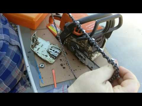 How to Install a Chainsaw Chain Blade or Bar