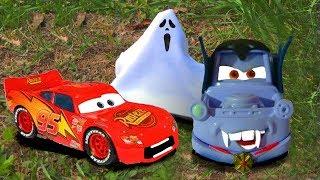Disney Pixar Cars Lightning McQueen Funny Scare PRANK Dracula Mater Disney Kids Toys Halloween Movie