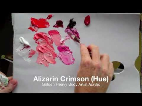 How to mix bright pink with acrylic paint: Colour mixing basics with acrylics | Part 1 of 2