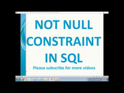 NOT NULL Constraints in SQL Server