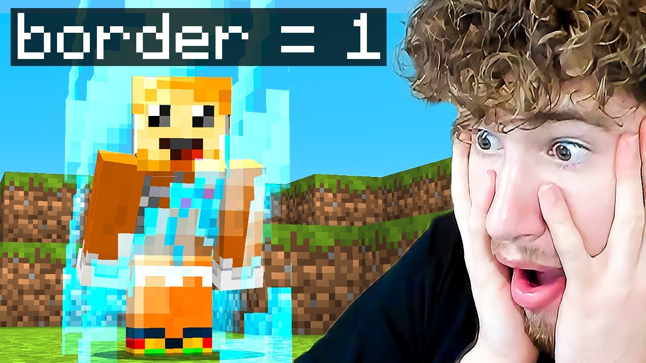 Beating Minecraft in a 1 by 1 BARRIER