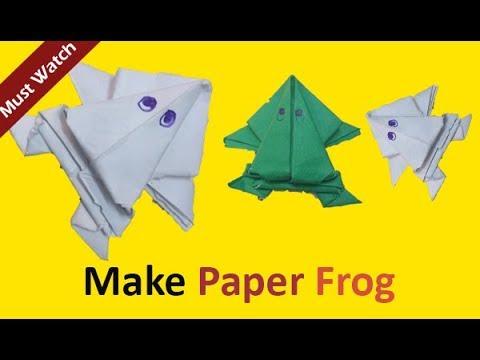 How to Make a Paper Frog that Jumps High and Far | kagaz ka mendak  | In Hindi