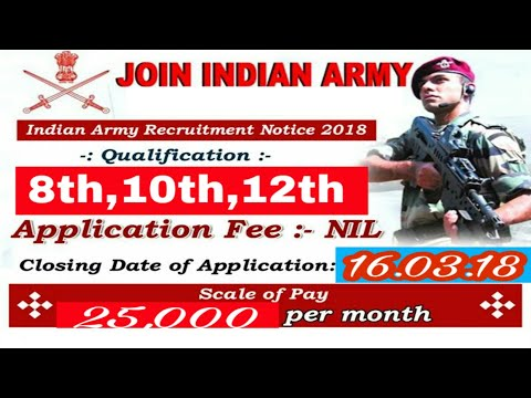 Army open Bharati new online registration form....8th,10th,12th pass..