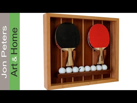 Woodworking Project: Make a Table Tennis Paddle & Ball Holder