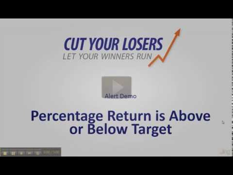 CutYourLosers.com Alert: Percentage return is above or below target