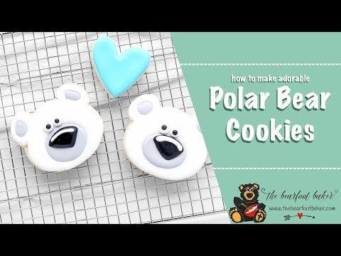 How to Make Adorable Polar Bear Cookies | The Bearfoot Baker