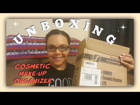 SONGMICS COSMETIC ORGANIZER UNBOXING  & REVIEW | TRISH DAVIS KITCHEN TOUR GIVEAWAY