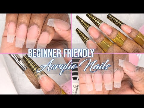 How to - Acrylic Nails using Nail Forms |  Beginner Friendly Series Part 1 | LongHairPrettyNails