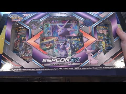 Pokemon Espeon GX Premium Collection Unboxing