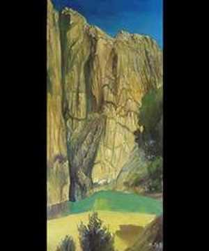 NOLLE   landscape painting  GUITAR