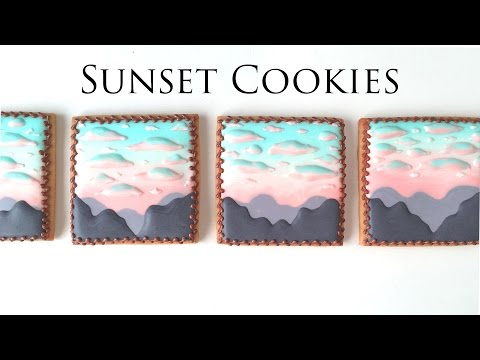 How To Decorate Sunset Cookies With Royal Icing