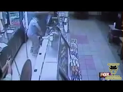 Employee's TASER Makes Short Work of Robber | Active Self Protection