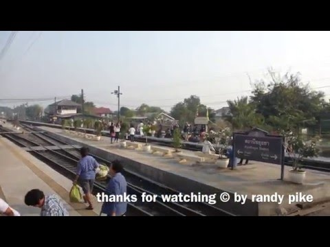 Bangkok to Ayutthaya Travel by Train, Amazing Thailand