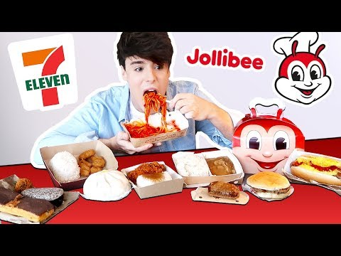 i tried FILIPINO 7 ELEVEN and fast foods in MANILA PHILIPPINES