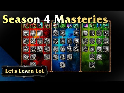 Let's Learn LoL - Season 4 Masteries