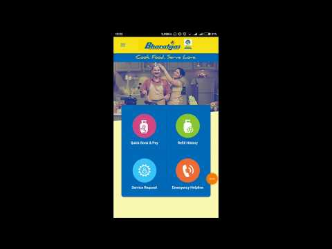 #2 Bharat Gas Booking from Mobile App & pay Online