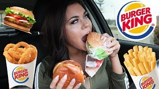 TRYING BURGER KINGS NEW SPICY CHICKEN SANDWICH + MUKBANG