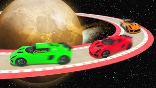 OUTER SPACE PLANET SKILLCOURSE! (GTA 5 Funny Moments)