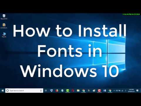 How to Install New Fonts in Windows 10