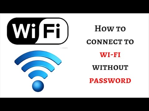How to connect to wifi without password