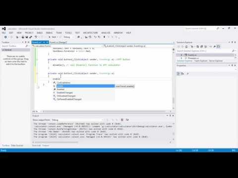 Create Calculator in C Windows form application Full Tutorial