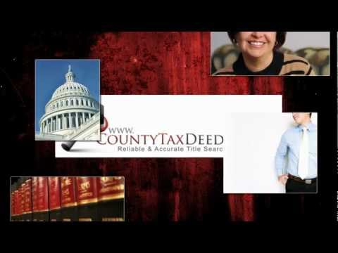 Florida County Tax Deed Sale Pre Auction Title Search