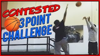 CONTESTED THREE POINT CHALLENGE! - YouTuber IRL Basketball Challenge
