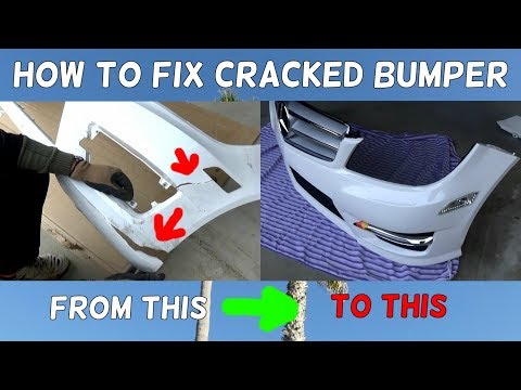 HOW TO FIX CRACKED BUMPER. DEMONSTRATED ON MERCEDES