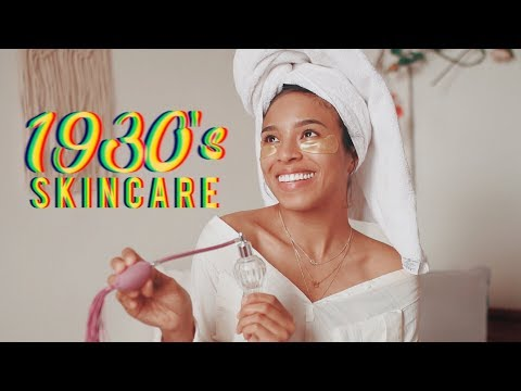 I TRIED FOLLOWING A 1930'S SKINCARE ROUTINE!