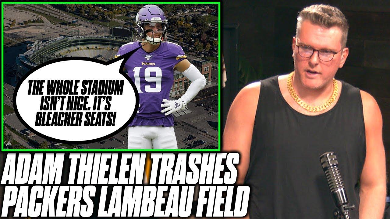 Pat McAfee Reacts To Adam Thielen Trashing On Packers' Lambeau Field