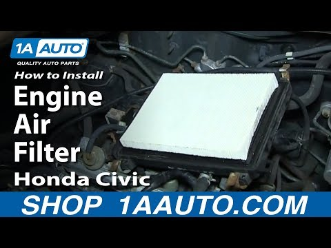 How To install Replace Engine Air Filter 1998-00 Honda Civic