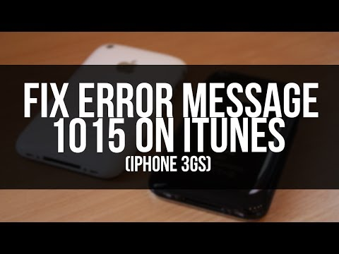 how to fix 1015 error restore and update iphone 3gs to 4.3.3