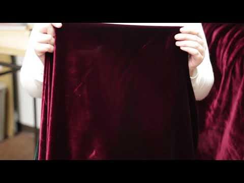 Mood Fabrics 307164 Garnet Solid Polyester Micro Velvet