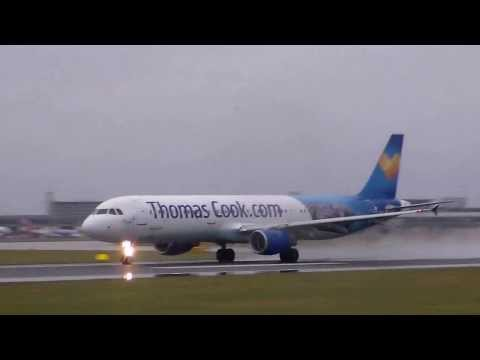 Thomas Cook 'Egypt' A321 takeoff Manchester Airport