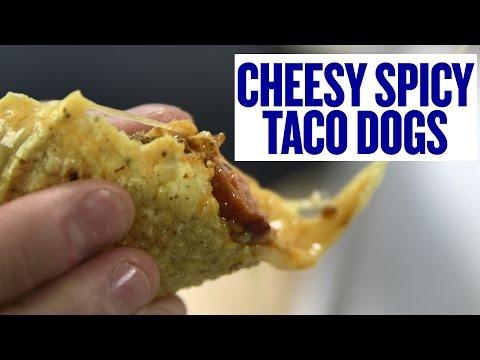 Cheesy Recipes: Spicy Cheesy Taco Dogs