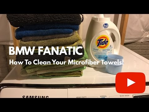 How To Clean Your BMW Microfiber Towels!