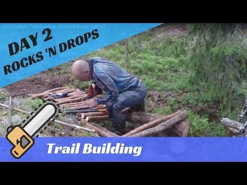 MTB Enduro Trail Building - Rocks & Drops (part 2)