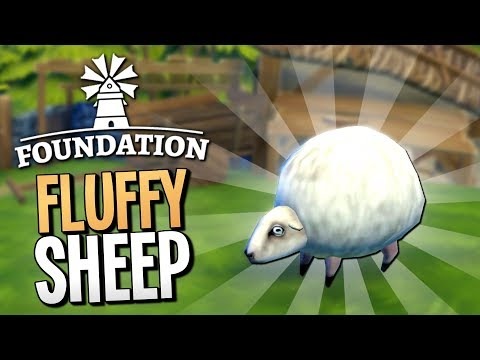 MASSIVE HERD OF CUTE SHEEP RUN AWAY AND INVADE OUR VILLAGE - Foundation Gameplay