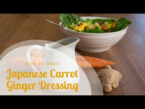 How to Make Japanese Carrot Ginger Dressing (Japanese restaurant style ginger dressing recipe)