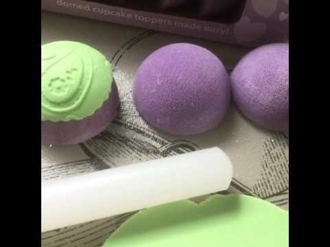 Domed cupcake toppers tutorial
