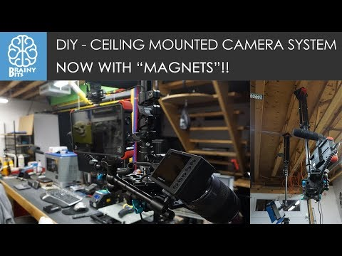 DIY - Ceiling Mount Camera and Light System.  Now With