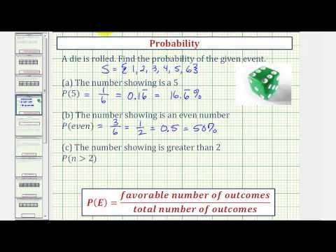 Ex: Find Basic Probabilities When Rolling One Fair Die