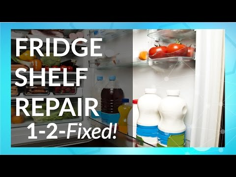 How to Fix Refrigerator Shelves   1-2-Fixed with Tech-Bond