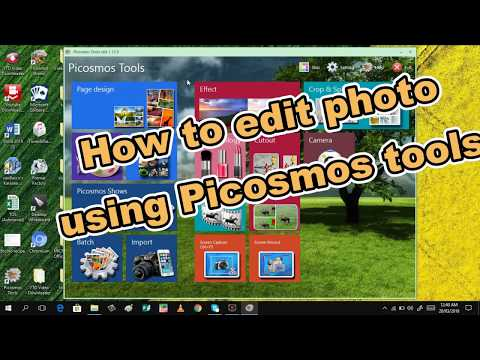 How to edit photo using picosmos tool  (easy way)