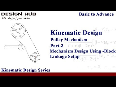 Pulley Setup in Solidwork Kinematics | Solidwork kinematics|