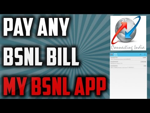 Pay BSNL Bill with My BSNL Android App | Landline | Mobile